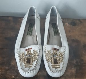 Vintage Carysma Club White Leather Loafers